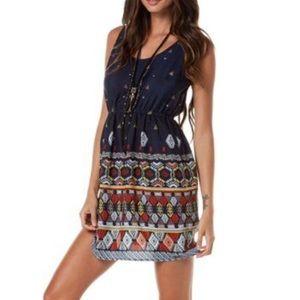 QUIKSILVER Indian Summer Tribal Print Beach Dress